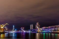 Cityscape van Buenos aires, Hoofdstad van Argentinië, de Buurt van Puerto Madero stock afbeelding