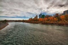 Cityscape van Calgary HDR Stock Fotografie