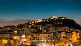 Cityscape van Campobasso Royalty-vrije Stock Foto's