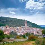 Cityscape van Castellon van het Jericadorp in Spanje Stock Foto