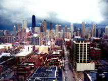 Cityscape van Chicago Stock Afbeeldingen