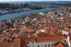 Cityscape van Coimbra, Portugal Royalty-vrije Stock Afbeelding