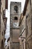 Cityscape van Colle Di Val d& x27; Elsa royalty-vrije stock afbeeldingen