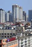Cityscape van Dalina, China Stock Foto