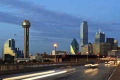 Cityscape van Dallas Texas Stock Afbeeldingen
