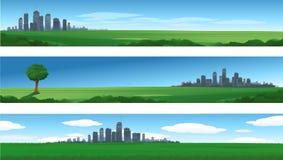 Cityscape van de aard achtergrond Royalty-vrije Stock Afbeeldingen