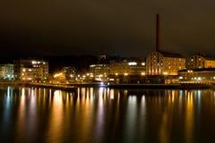 Cityscape van de avond van Lahti royalty-vrije stock afbeeldingen