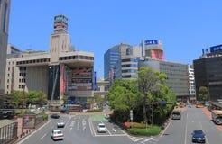 Cityscape van de binnenstad Japan van de Yokohamapost royalty-vrije stock foto's