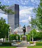 Cityscape van de binnenstad van Atlanta stock afbeelding