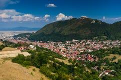 Cityscape van de binnenstad van Brasov, Roemenië Stock Afbeelding