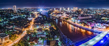 Cityscape van de binnenstad van Chiangmai Stock Afbeelding
