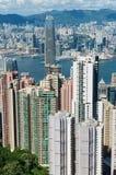 Cityscape van de Hong Kong-stad in Hong Kong, China royalty-vrije stock afbeelding