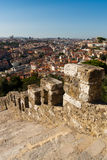 Cityscape van de Mening van de Stad van Lissabon royalty-vrije stock foto