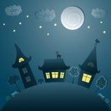 Cityscape van de nacht Stock Fotografie