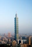 Cityscape van de ochtend van Taipeh Stock Afbeeldingen