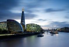 Cityscape van de Rivier Theems, Londen Royalty-vrije Stock Afbeelding