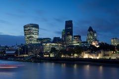 Cityscape van de Rivier Theems, Londen Stock Foto's