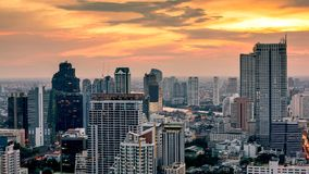 Cityscape van de stad van Bangkok de stad in royalty-vrije stock afbeeldingen