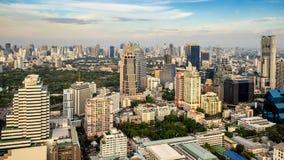 Cityscape van de stad van Bangkok stock foto