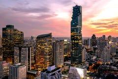 Cityscape van de stad Thailand van Bangkok stock afbeelding