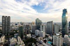 Cityscape van de stad Thailand van Bangkok royalty-vrije stock afbeeldingen