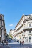 Cityscape van de stad van Catanië, Sicilië Royalty-vrije Stock Foto's
