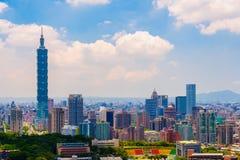 Cityscape van de stad van Taipeh Stock Afbeelding