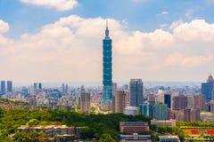 Cityscape van de stad van Taipeh Stock Fotografie