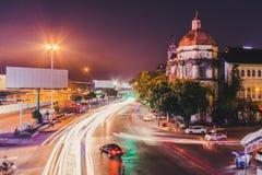 Cityscape van de stad in in Yangon stock afbeeldingen