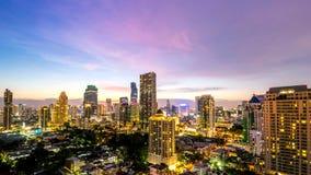 Cityscape van de stadslandschap Thailand van Bangkok stock afbeelding