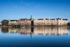 Cityscape van de Waterkant van Helsinki Royalty-vrije Stock Fotografie