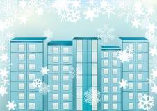 Cityscape van de winter. Royalty-vrije Stock Fotografie