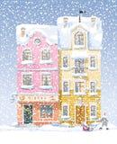Cityscape van de winter Royalty-vrije Stock Foto's