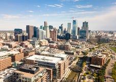 Cityscape van Denver luchtmening Royalty-vrije Stock Afbeelding