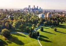 Cityscape van Denver luchtmening van het stadspark Royalty-vrije Stock Fotografie