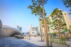 Cityscape van Dongdaemun op Jun 18, 2017 Het is commercieel en Stock Foto