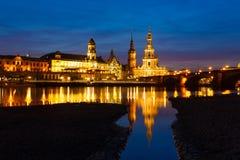Cityscape van Dresden Stock Foto