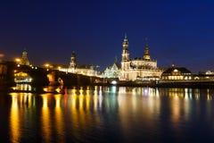 Cityscape van Dresden Stock Foto's