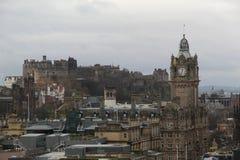 Cityscape van Edinburgh stock afbeelding