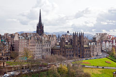 Cityscape van Edinburgh stock afbeeldingen