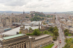 Cityscape van Edinburgh stock fotografie