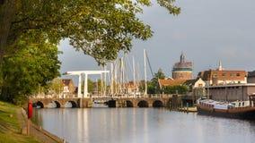 Cityscape van Enkhuizen Holland Royalty-vrije Stock Foto's