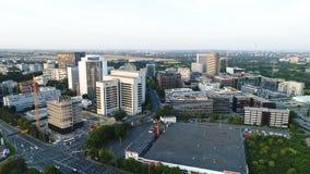 Cityscape van Eschborn, Duitsland stock video