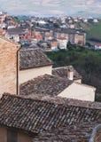 Cityscape van Fermo, Italië Verticale foto Royalty-vrije Stock Fotografie
