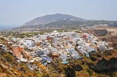 Cityscape van Fira Stock Afbeeldingen