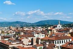 Cityscape van Florence van Campanile - Florence royalty-vrije stock fotografie