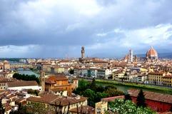 Cityscape van Florence tegen dag Stock Afbeelding