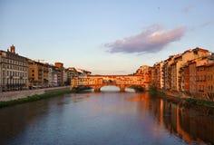 Cityscape van Florence tegen dag Stock Foto's
