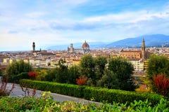 Cityscape van Florence tijdens de herfst, Toscanië, Italië stock foto