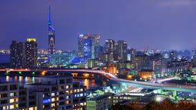 Cityscape van Fukuoka Stock Afbeeldingen